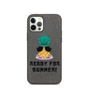 "Biologisch abbaubare Apple iPhone Hülle ""Ananas mit Hula-Hoop"""