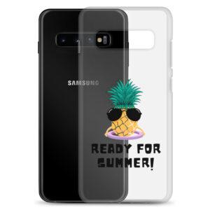 """Biologisch abbaubare Samsung Handy-Hülle """"Ananas mit Hula-Hoop"""""""