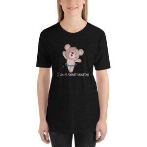 "Kurzarm Hula Hoop Sprüche T-Shirt ""I Love Smart Hooping – Panda"""