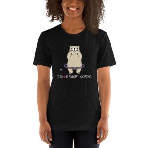 "Kurzarm Hula Hoop Sprüche T-Shirt ""I Love Smart Hooping – Bär"""