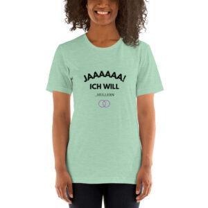 """Kurzarm Hula Hoop Sprüche T-Shirt """"Jaaaaaa ich will!… Hullern"""""""