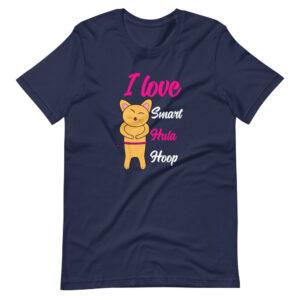 "Kurzarm Hula Hoop Unisex-T-Shirt ""I love Smart Hula Hoop"""