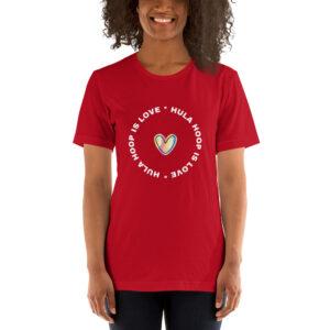 "Kurzarm Unisex-T-Shirt ""Hula Hoop is Love"""
