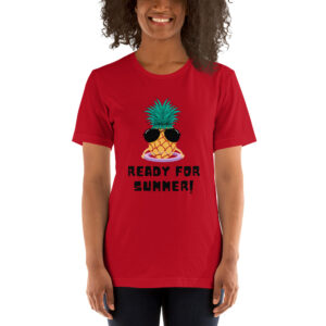 "Kurzarm Unisex-T-Shirt ""Ananas im Hula Hoop – Ready For Summer"""