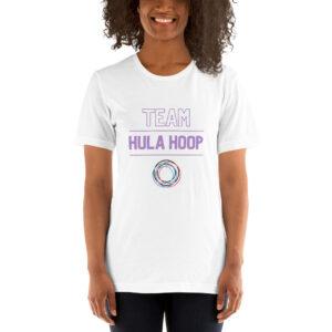 "Kurzarm Hula Hoop Sprüche T-Shirt ""Team Hula Hoop"""